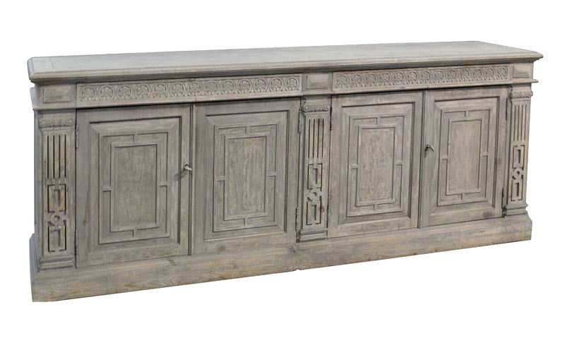 4 DRAWER/DOOR CONSOLE - Donna's Home Furnishings in Houston