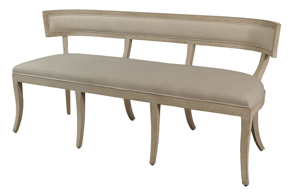 CURVED BACK BENCH - Donna's Home Furnishings in Houston