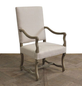 HIGH BACK ARM DINING CHAIR - Donna's Home Furnishings in Houston