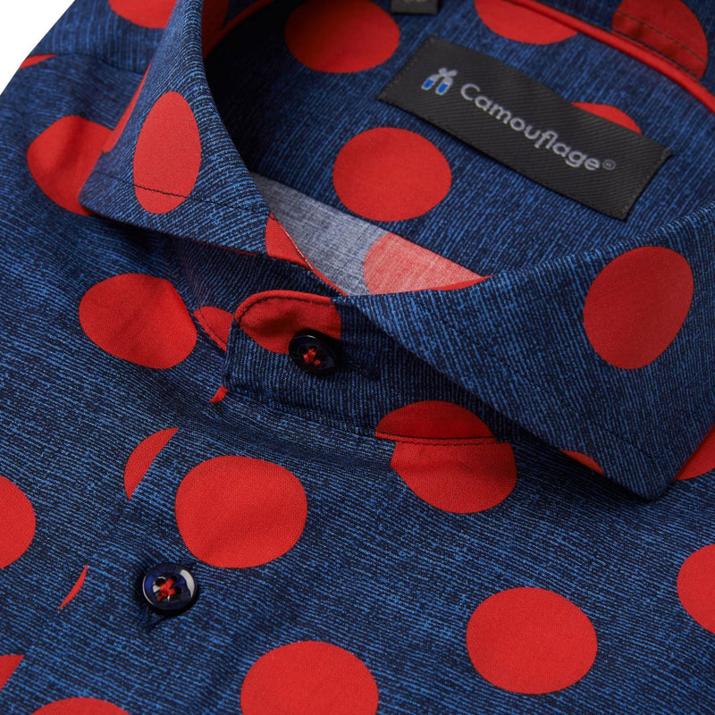 navy poplin overhemd Garibaldi - The Art of Camouflage