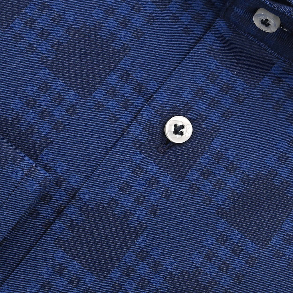 blauw twill overhemd Vives - The Art of Camouflage