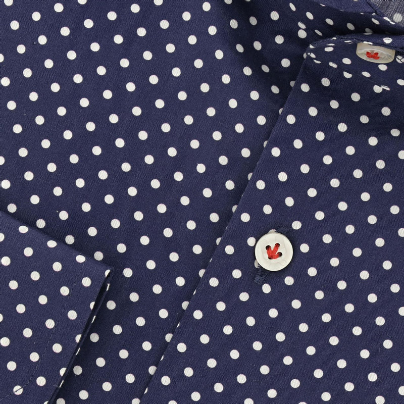 navy poplin overhemd Milos - The Art of Camouflage
