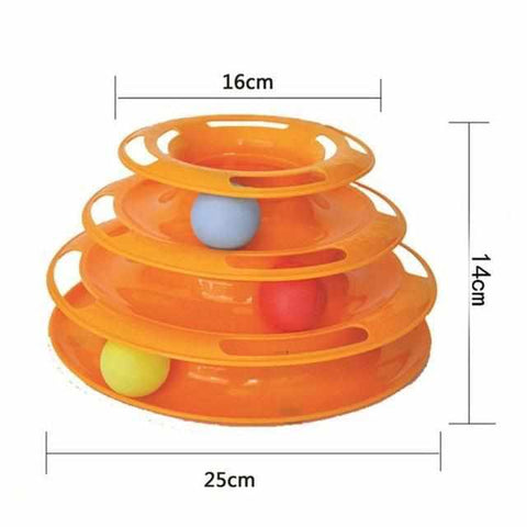 3 Layers Cat Track Toy Tower-Zaapy Pet