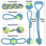 Eco-friendly Cotton Rope Dog Chew Toys Set-Zaapy Pet