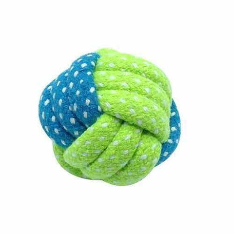 Green Dentures Friendly Dog Cotton Chew Toy-Zaapy Pet