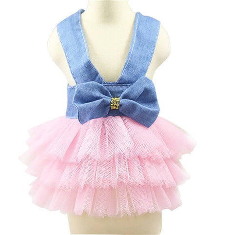 Denim Tutu Skirt Dress