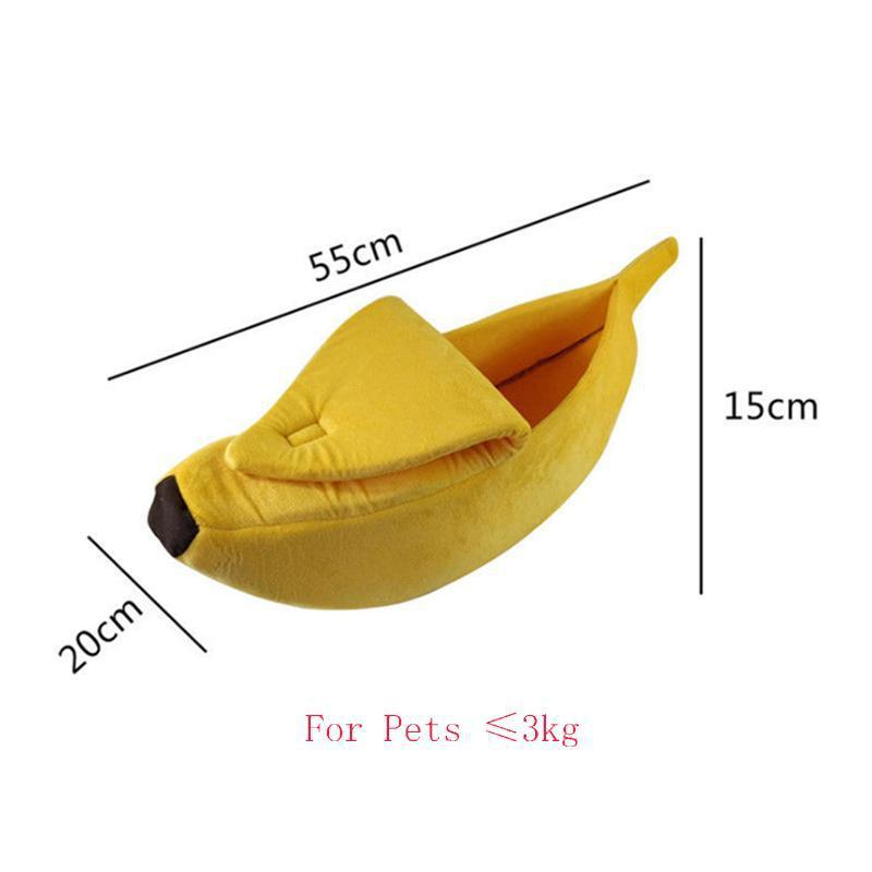 Small Dog & Cat Banana-shaped Bed-ZaaPy Zpinners