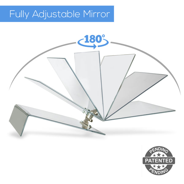 "Adjustable Face Down 2-Way Mirror-Post Vitrectomy, Macular Hole and Retinal Detachment Surgery Recovery product (7""x5.5"")"