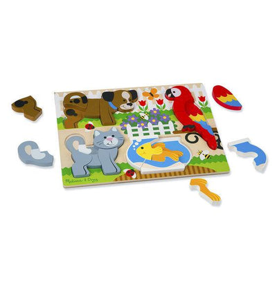 Pets Chunky Jigsaw Puzzle by Melissa and Doug - Little Marshans