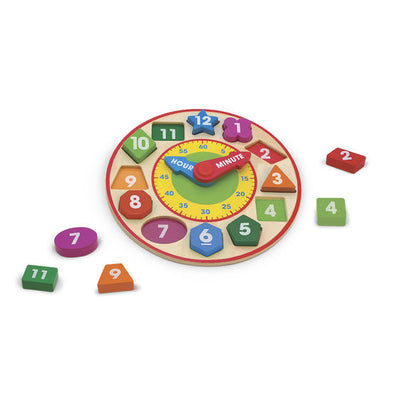 Shape Sorting Clock by Melissa and Doug - Little Marshans