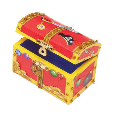 Decorate-Your-Own Wooden Pirate Chest - Little Marshans