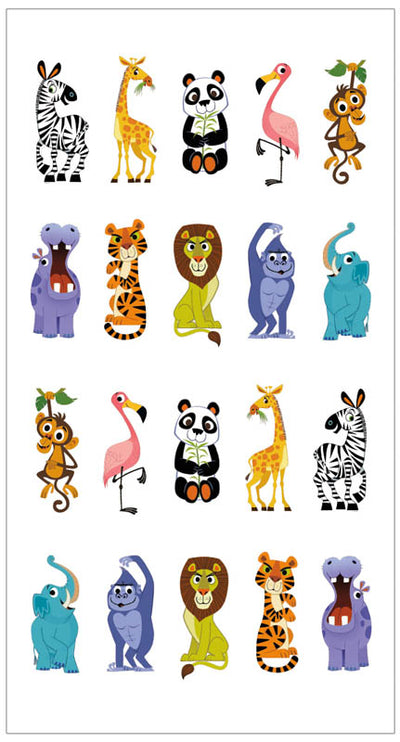 Finger Puppet Temporary Tattoo - Zoo
