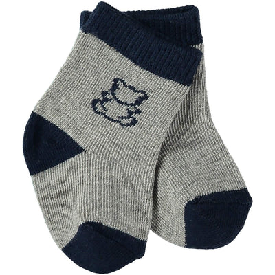 Alpine Boys Socks Twin Pack, Navy and Grey - Little Marshans