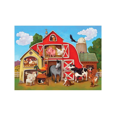 Barnyard 100 pcs Puzzle & Poster - Little Marshans