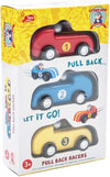 3 Pull Back Racers by Le Toy Van - Little Marshans