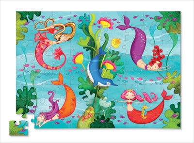 Junior Shaped Box Puzzles Mermaids 72 pcs by Crocodile Creek - Little Marshans