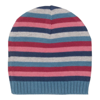 Stripy rose beanie hat