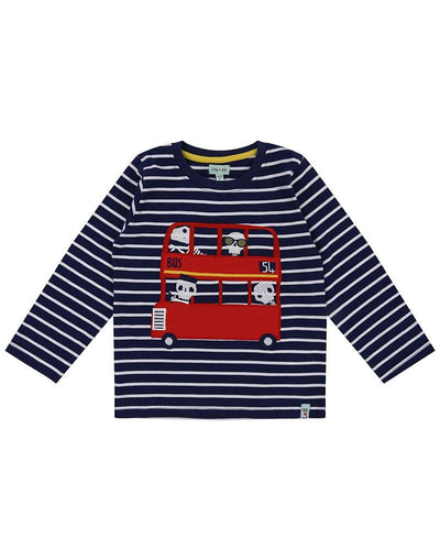 Long Sleeve Applique Top-Bus Relics by Lilly & Sid - Little Marshans