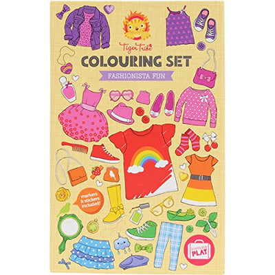 Fashionista Fun Colouring Set by Tiger Tribe - Little Marshans