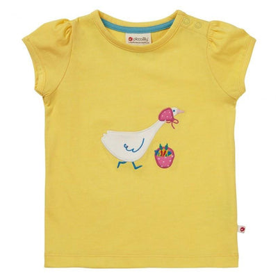 Yellow Mrs Goose T-Shirt by Piccalilly - Little Marshans