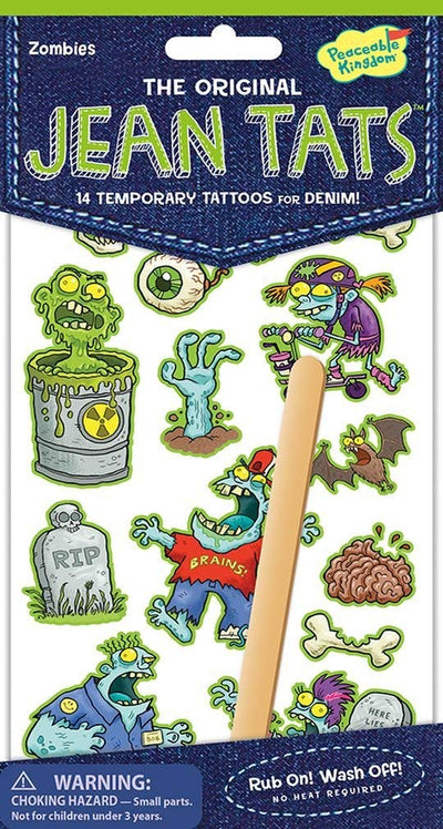 Jeans Tattoos - Zombies by Peaceable Kingdom - Little Marshans