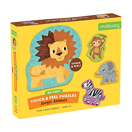 Jungle Animals Touch & Feel Puzzle by Mudpuppy - Little Marshans