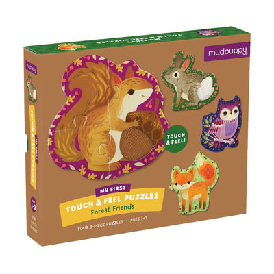 Forest Animals Touch & Feel Puzzle by Mudpuppy - Little Marshans