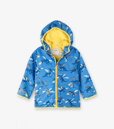 Little Marshans:Fire Breathing Dragons Microfiber Rain Jacket: