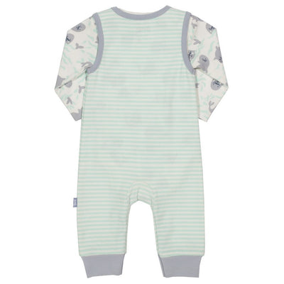 Little Marshans:Seal dungaree set:
