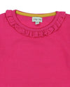 Little Marshans:FRILL NECK LAYERING TOP- B.PINK: