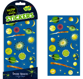 Glow in the Dark  Stickers - Deep Space by Peaceable Kingdom - Little Marshans