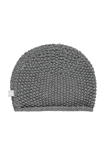 CHARCOAL COTTON KNITTED HAT - Little Marshans
