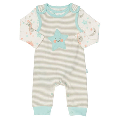 Little Marshans:Love you dungaree set: