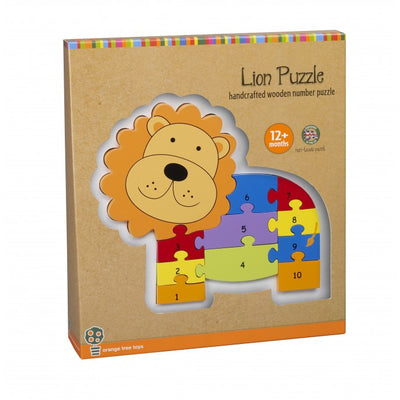 Lion Number Puzzle by Orange Tree Toys - Little Marshans