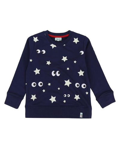 Night Skies Sweat - Glow in the Dark by Lilly & Sid - Little Marshans