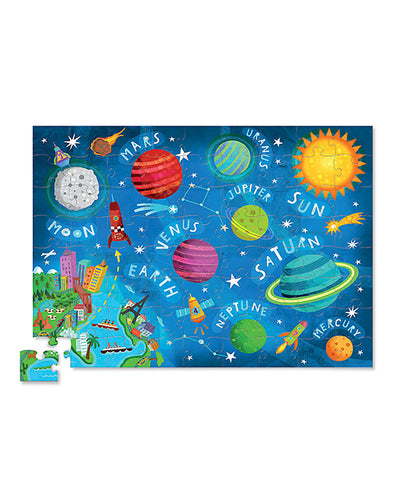 Little Marshans:Space Junior Shaped Box 72 pcs Puzzle: