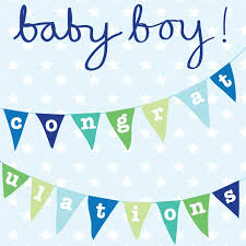 Baby Boy! Bunting  Card - Little Marshans