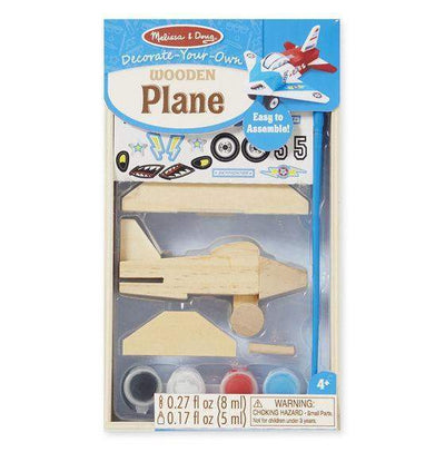 Decorate-Your-Own Wooden Plane - Little Marshans