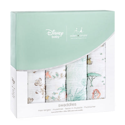 The Lion King 4-pack Disney baby classic swaddles by Aden & Anais - Little Marshans
