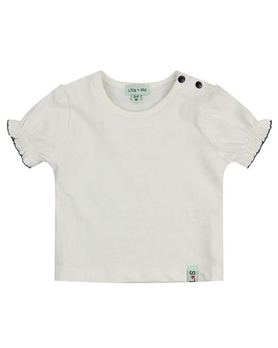 Little Marshans:Ecru Layering Top: