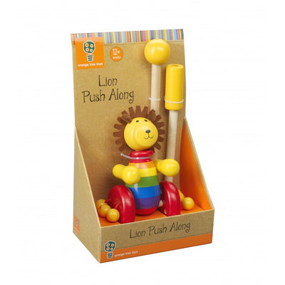 Lion Push Along (Boxed) by Orange Tree Toys - Little Marshans