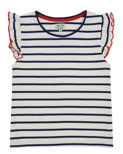 Little Marshans:Pretty Vest Top-Stripe: