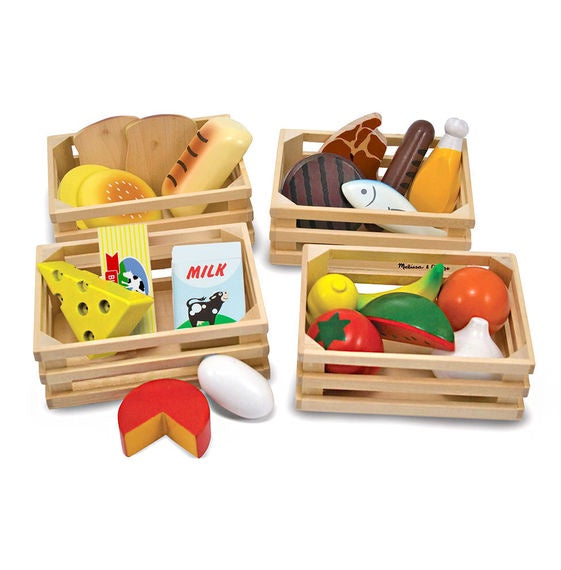 Food Groups - Wooden Play Food by Melissa and Doug - Little Marshans