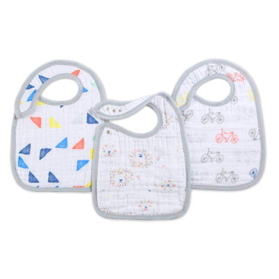 Little Marshans:Leader Of The Pack 3-Pack Classic Snap Bibs:
