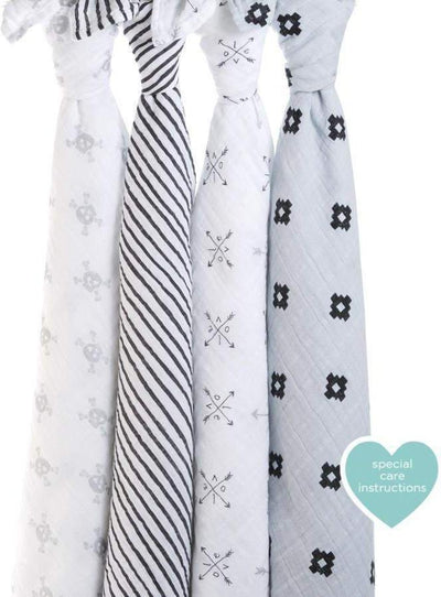 Little Marshans:Lovestruck 4pk Classic Swaddles: