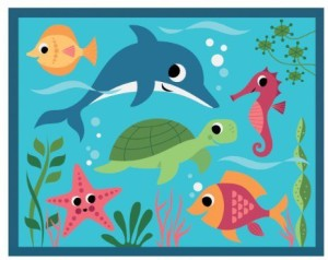 Under the Sea 12 pcs Pouch Puzzle
