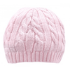 Little Marshans:Knitted Cable Hat,Cradle pink / NB