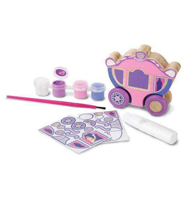 Decorate-Your-Own Wooden Princess Carriage - Little Marshans
