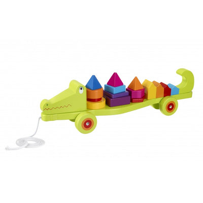 Crocodile Stacking Pull Along - Little Marshans