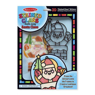 Stained Glass Made Easy - Santa Claus by Melissa and Doug - Little Marshans